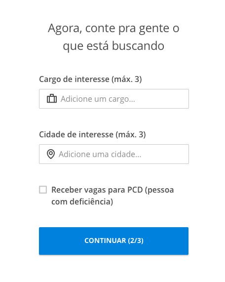 Cargos e cidades - VAGAS.com