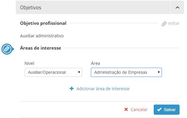 atualizar objetivo profissional vagas.com
