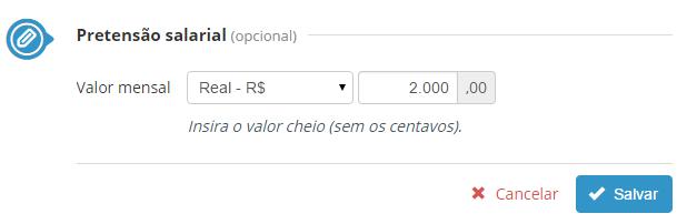 pretensão salarial vagas.com.br