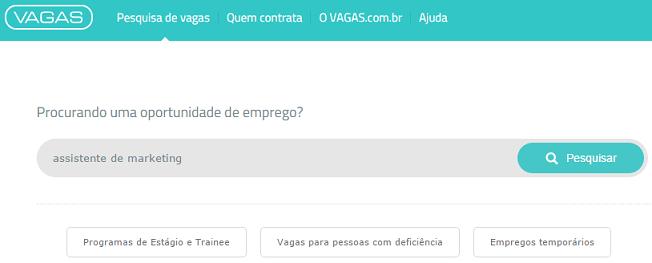 pesquisar vagas sem código vagas.com.br