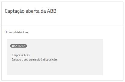 deixou o seu currículo captação aberta vagas.com.br