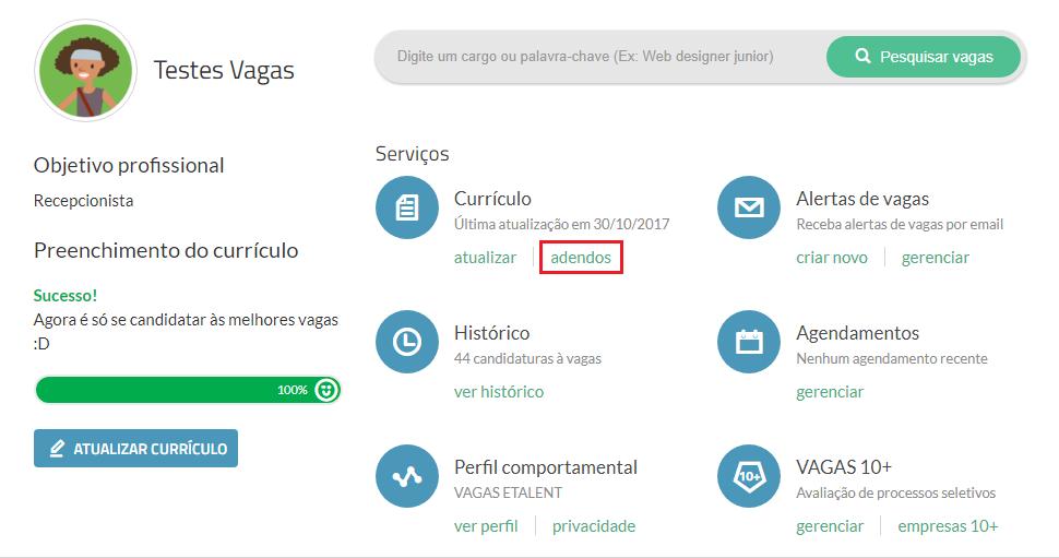 adendos VAGAS.com.br