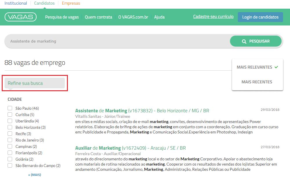 refinar busca vagas.com.br