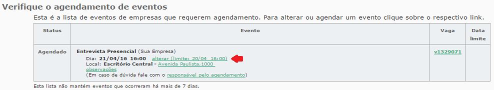cancelar ou reagendar entrevista VAGAS.com.br