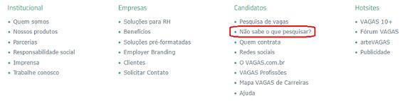 não sabe o que pesquisar vagas.com.br