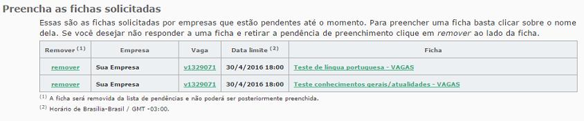 fichas solicitadas VAGAS.com.br