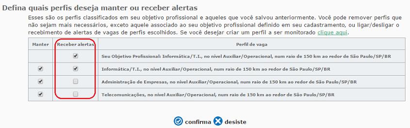 alerta de vagas vagas.com.br