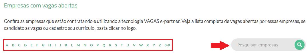 pesquisar empresas VAGAS.com.br