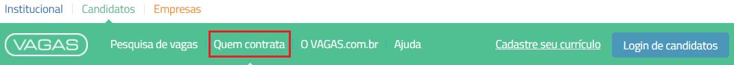 quem contrata VAGAS.com.br