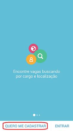 cadastrar aplicativo VAGAS de Emprego VAGAS.com.br