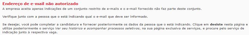 indicação endereço de e-mail não autorizado vagas.com