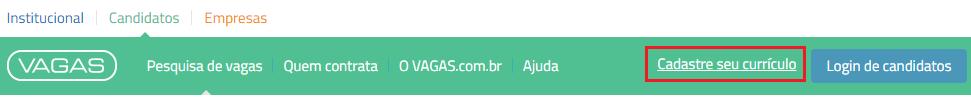 cadastre seu currículo VAGAS.com.br