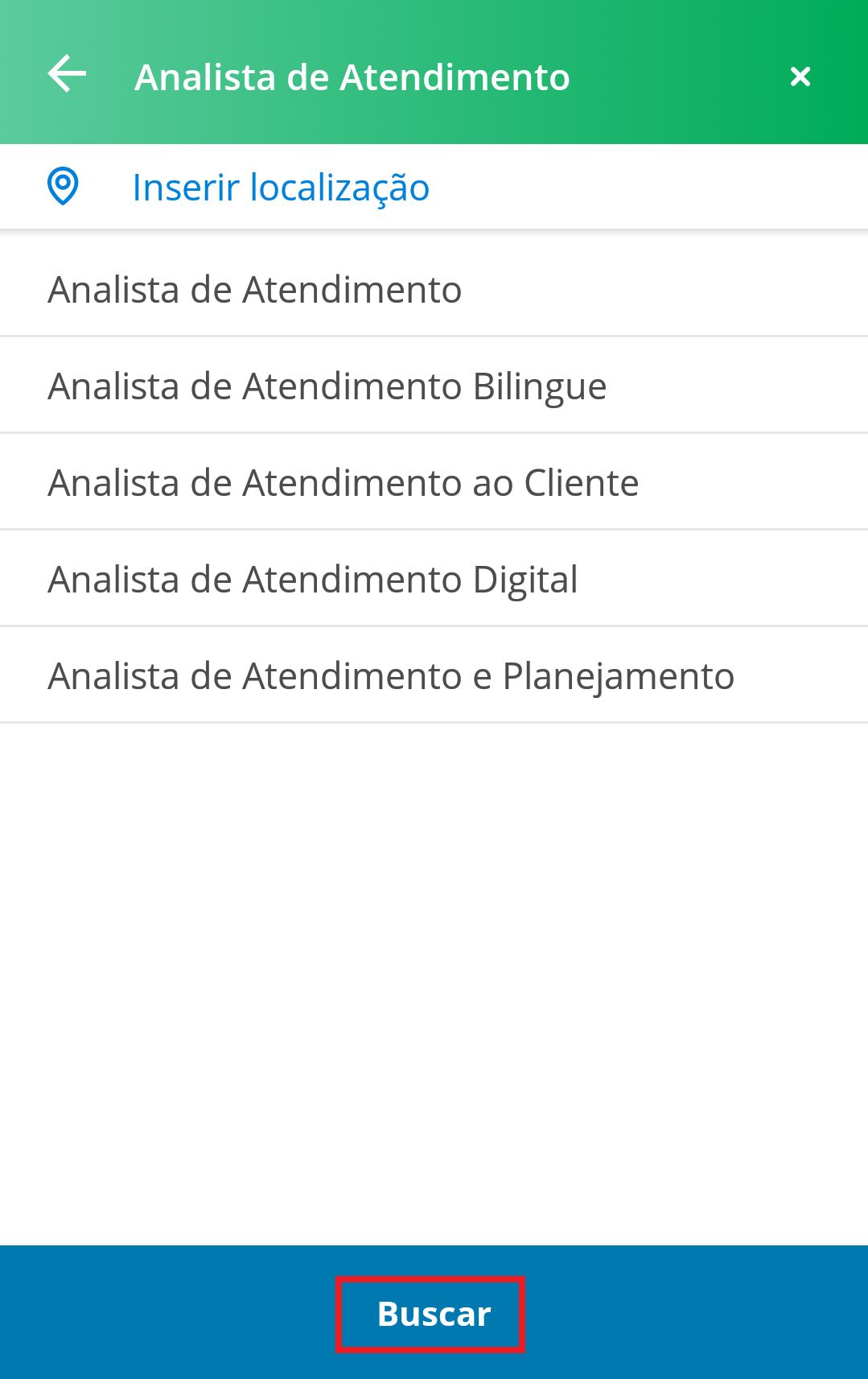 Buscar Vagas - App VAGAS