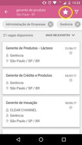 salvar pesquisa aplicativo vagas.com.br