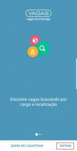 Tela de abertura do app