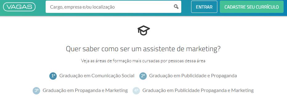 Formação mais frequente - VAGAS.com.br