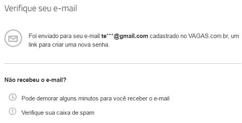 link enviado recuperar senha - vagas.com.br